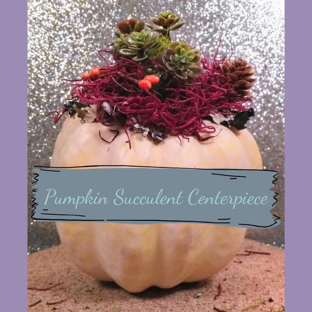 Pumpkin Succulent Centerpiece D20 Theory